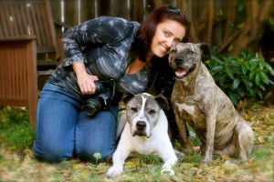 Lori Fusaro with her beloved oldies. Image Credit: Rita Earl