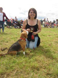 "Phoebe, winner of ""Susie-Belle Memorial Shield for Puppy Farm Survivor"""