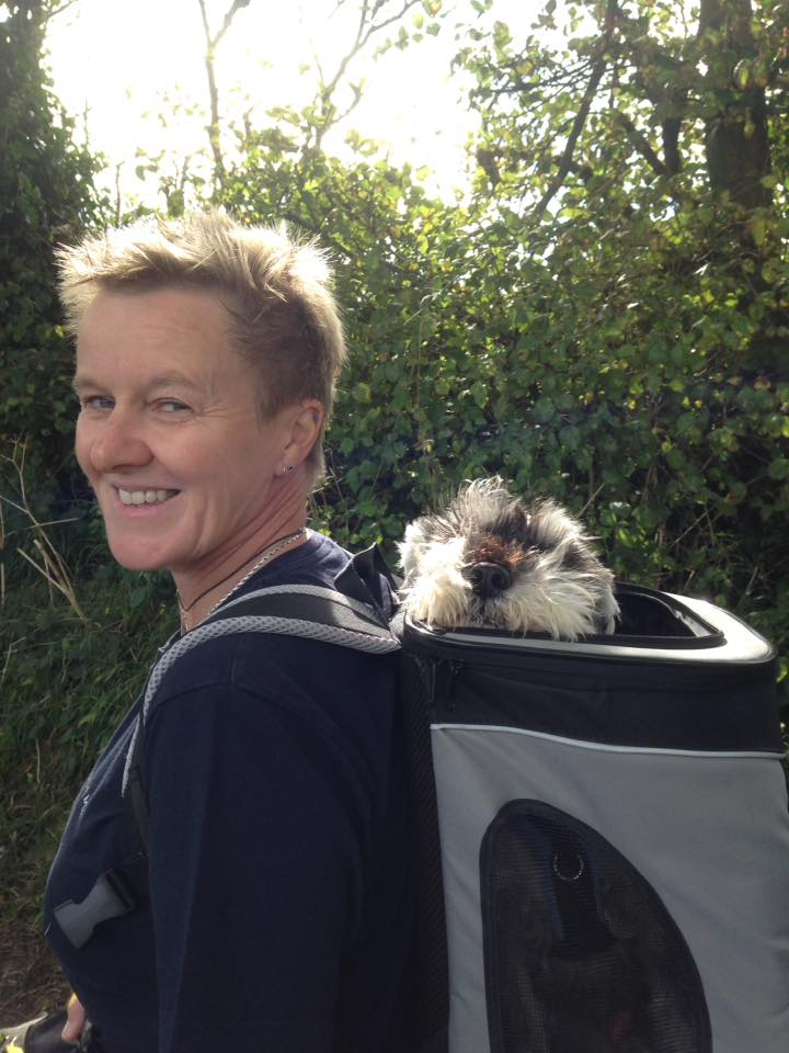 Merlin carried in mum's rucksack